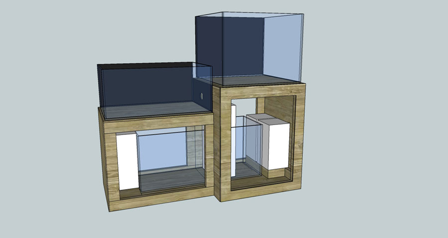 CAD1 - 100 cube and 65 frag tank setup