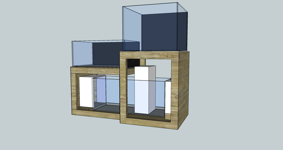 CAD2 - 100 cube and 65 frag tank setup